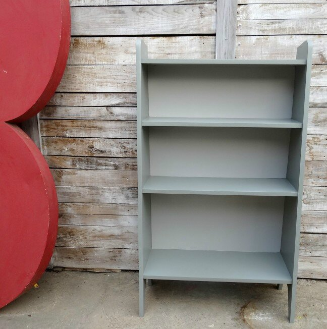 BIbliotheque haute Esprit Vintage gris farrow and ball