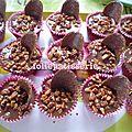 Cup cake pralin et nappage chocolat