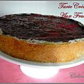 Tarte cremeuse aux fruits rouges