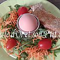 Oeuf mollet et son nid de salade