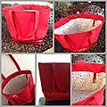 Nouveau sac à paillettes rouge à pois