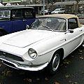 Renault caravelle 1100 cabriolet 1964-1966