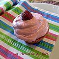 Cupcakes au limoncello et chantilly framboises