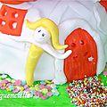Gâteau Maison des fées détail