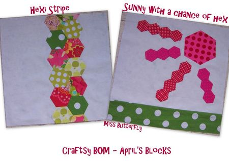 Craftsy BOM - April's Blocks -Miss Butterfly