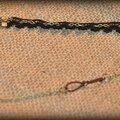 Headband vintage mixte dentelle et chaîne bronze