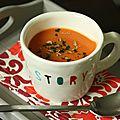 Velouté (soupe) de carottes au cumin et à la coriandre