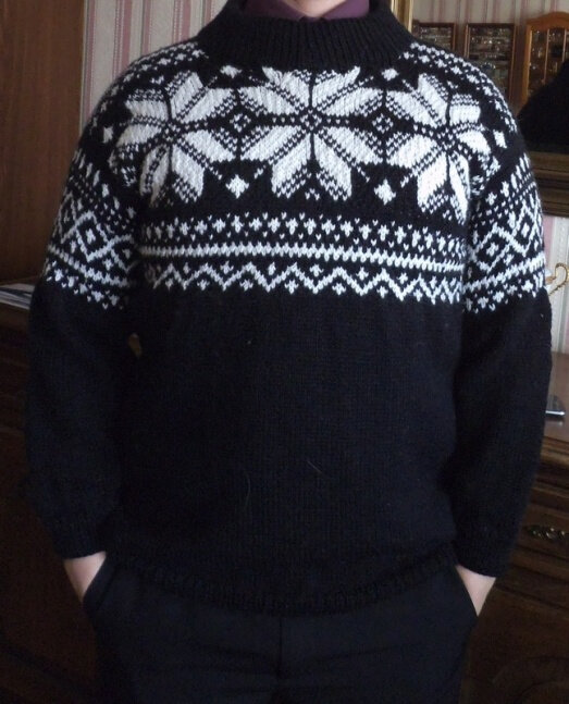 pull homme jacquard
