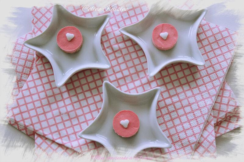 mini cheesecake à la fraise 2