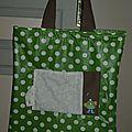 21. sac pliable vert - ouvert