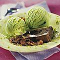 Recettes de moelleux au chocolat et glace pistache
