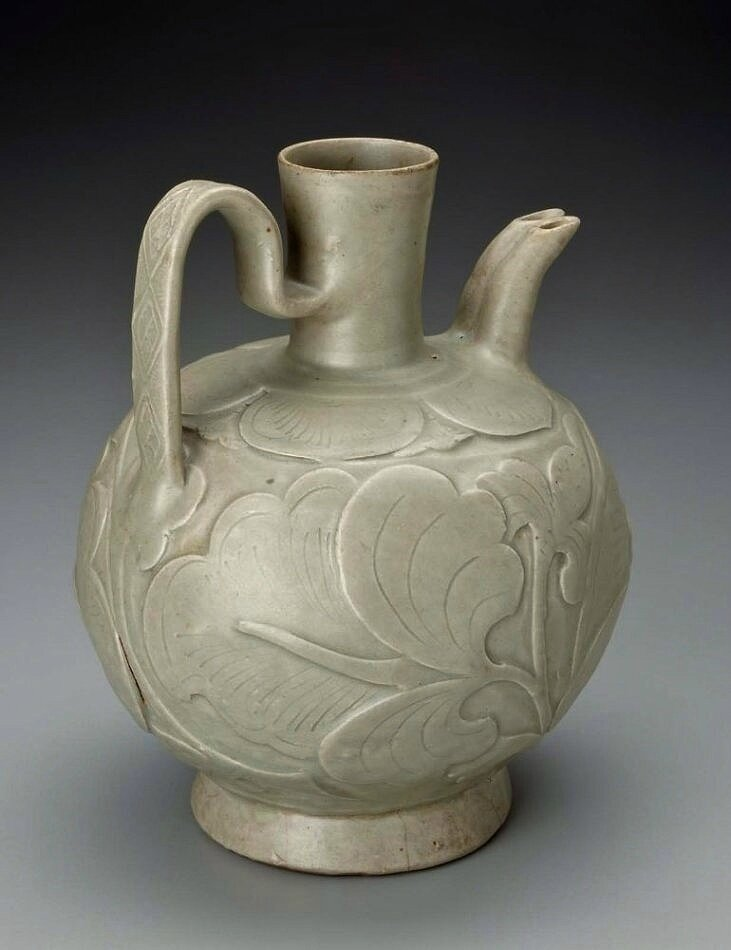 Ewer with double spout, Chinese, Five Dynasties period to early Northern Song dynasty, 10th century A