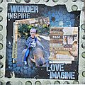 [kit d'avril] scrapbooking page : imagine