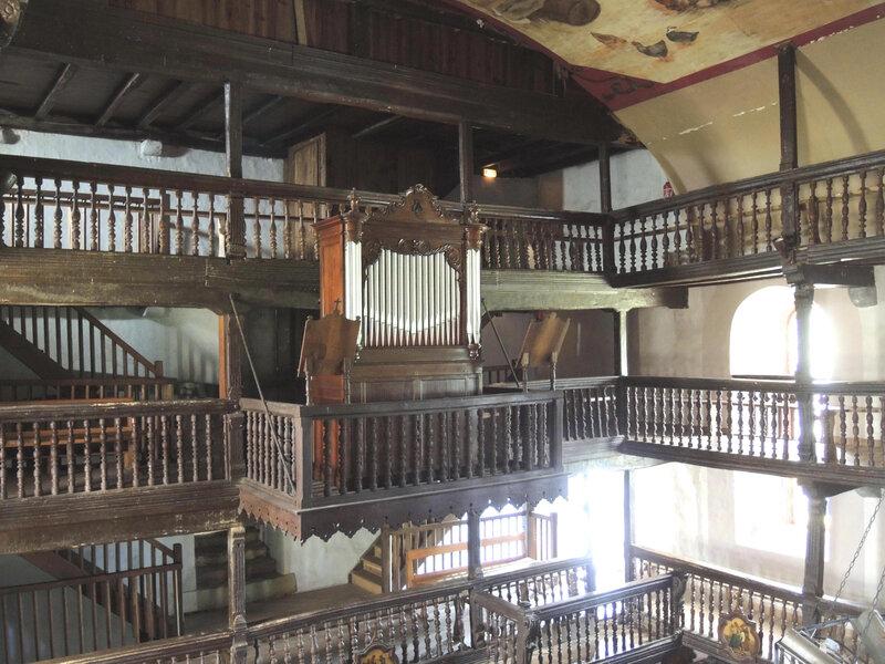 Mendionde, église saint-Cyprien, intérieur, orgue
