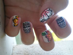nail art tribal one stroke 3