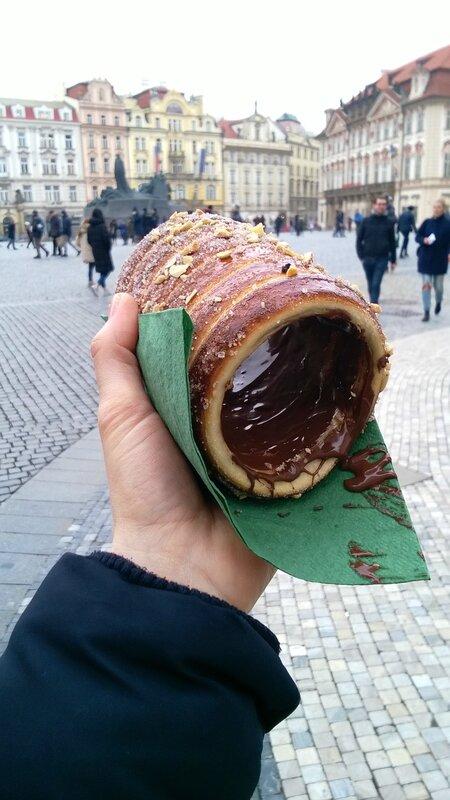 Un trdelnik au chocolat, Prague