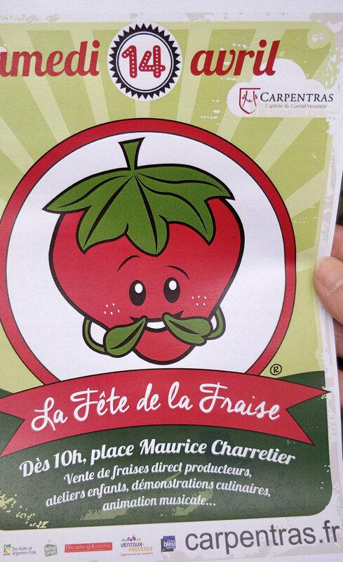 affiche fete de la fraise