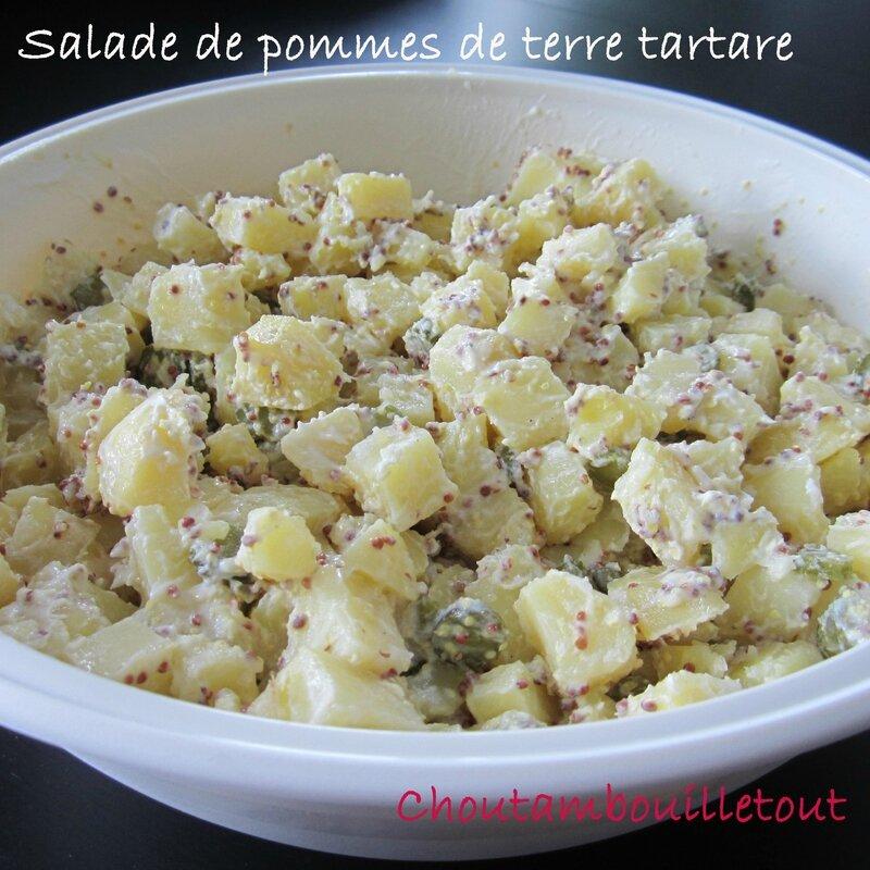 Salade de pommes de terre tartare