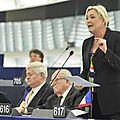 Marine le pen au parlement européen le 22/10/2014