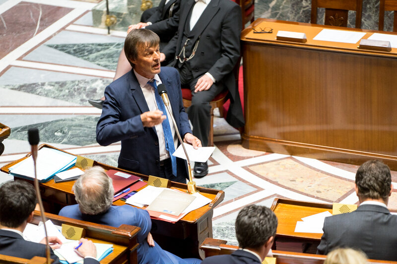 Nicolas_Hulot_-_Assemblée_nationale_16 mai 2018 Auteur:author Jacques Paquier
