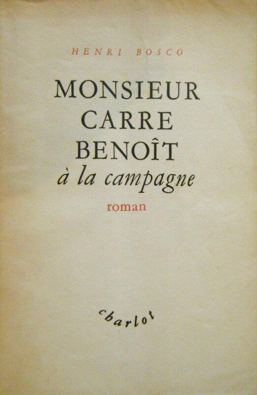 Bosco Monsieur Carre Benoit à la campagne