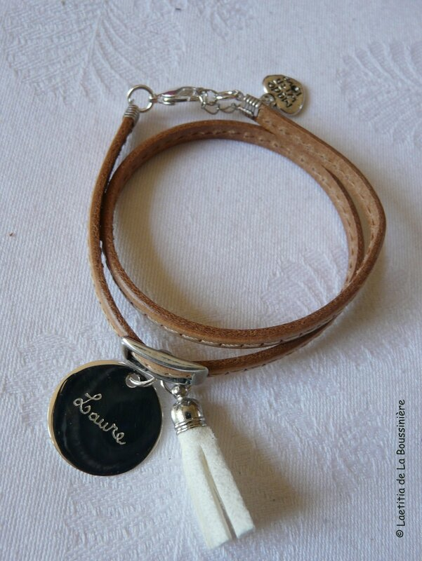 Fête des Mères (bracelet Pompon transformé et personnalisé)