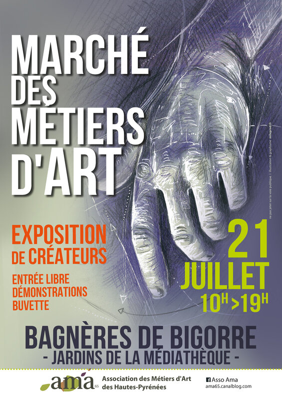 AMA65 marché des métiers d'art 21 juillet 2019 Bagnères de Bigorre