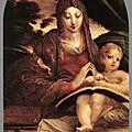 Parmigianino (italian, 1503-1540), madonna and child, 1525