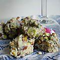 °chocolat blanc, pistache & violette°
