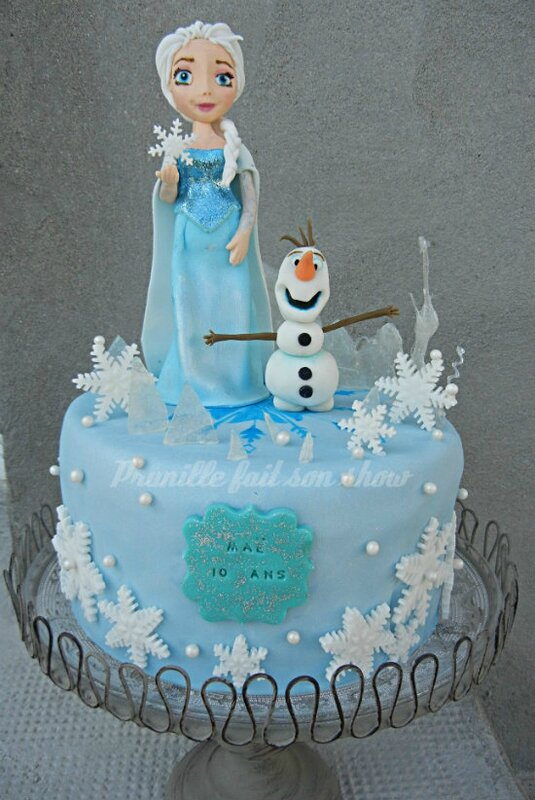 gateau la reine des neiges prunille 10 ans prunillefee