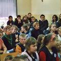 Mit den Schülern und Lehrerinnen in Slowino / Schlawin