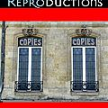 Mes reproductions et copies