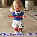 Barbie tenue équipe de france