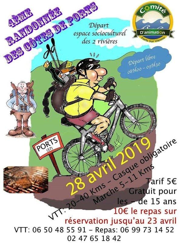 Rando VTT Ports avril 2019