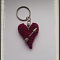Porte clés cœur avec flèche
