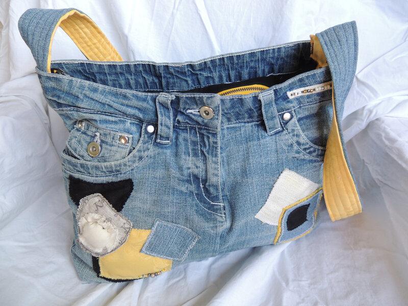 Pascaline, Sac en jean,base 40x13