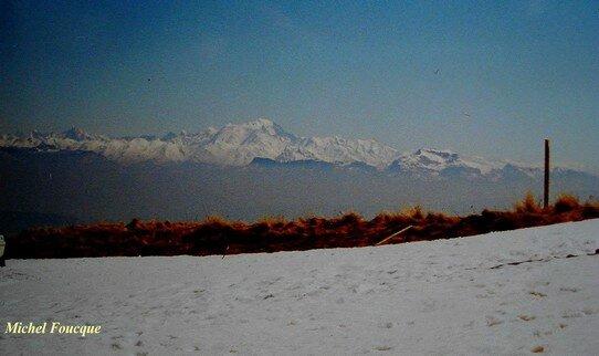 557) Mont blanc,vu du Grd Colombier