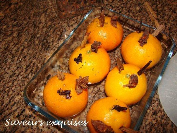 mandarines aux épices
