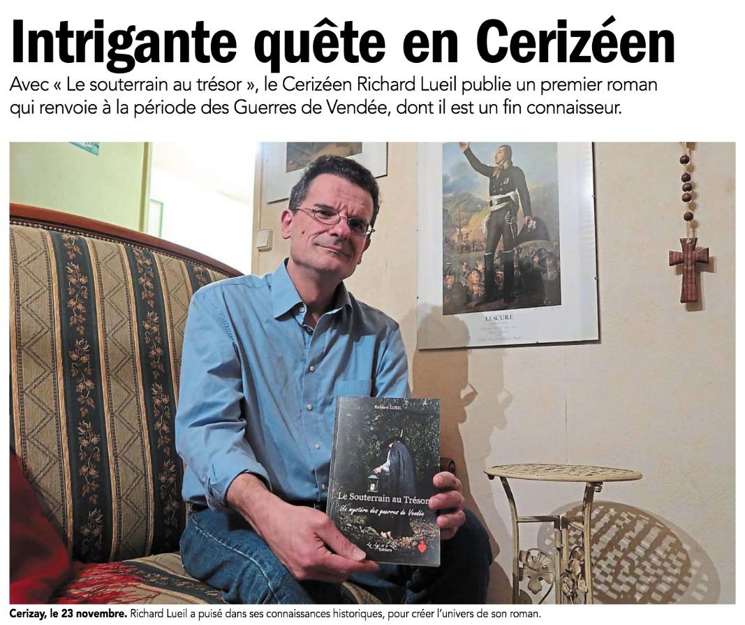 Revue de presse : « Le Souterrain au Trésor »