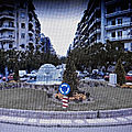 Rond-point à thessalonique (grèce)