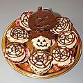 Cupcake chocolat-vanille d'halloween