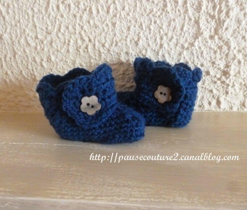 Chaussons bottes bleus (1)