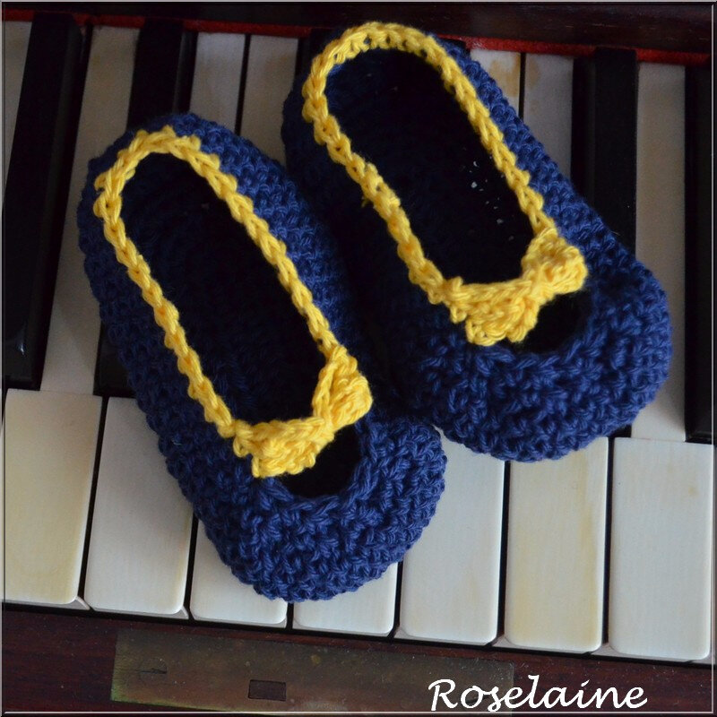 Chaussons Crochet Noeud 2