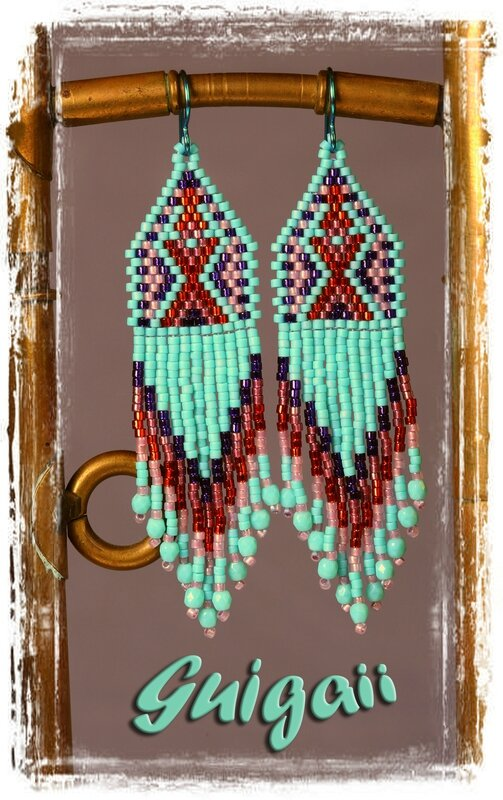 191 BO Indienne Turquoise green