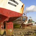 Un des plus beaux cimetiere de bateaux a marèe basse-camaret
