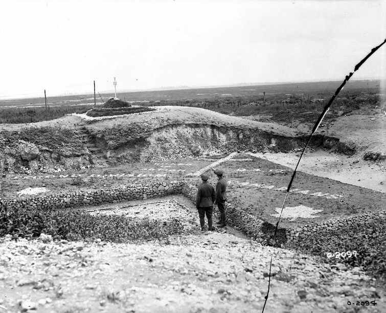 Vimy construction mémorial Oct 1917
