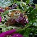 Salade verte aux fruits secs