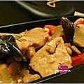 ..sauté de porc aux cacahuètes et champignons noirs (défi placard n#14)..