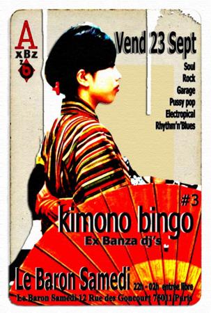 Kimono bingo