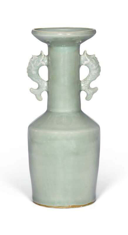 A 'Longquan' celadon mallet vase, Southern Song dynasty (1127–1279)
